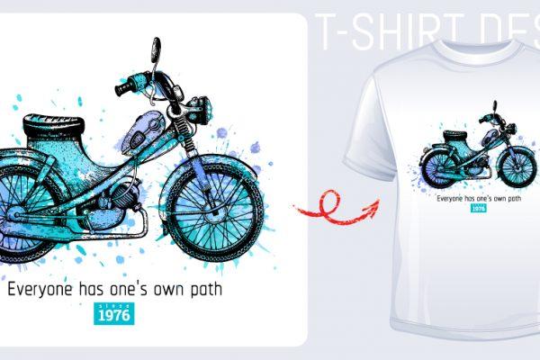 愛車や好きなバイクをそのままオリジナルTシャツに!