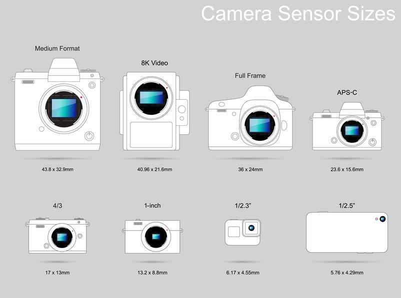 センサーサイズが大きいほどより多くの画像情報を取り込める