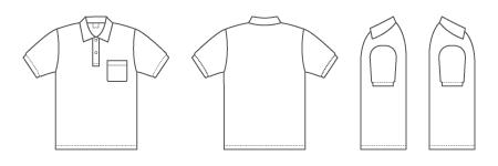ポロシャツ(ポケット付き)
